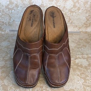 Naturalizer Shoes - Naturalizer Brown Leather Mules